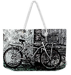 Weekender Tote Bag featuring the painting Green Park Way by Ecinja Art Works
