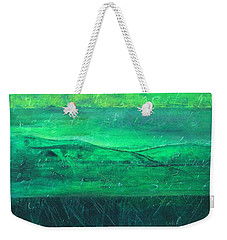 Weekender Tote Bag featuring the painting Green Pastures by Jocelyn Friis