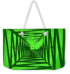 Weekender Tote Bag featuring the photograph Green Perspective by Clare Bevan