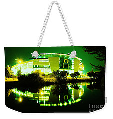 Green Power- Autzen At Night Weekender Tote Bag