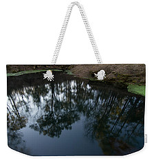 Weekender Tote Bag featuring the photograph Green Sink Reflection by Paul Rebmann