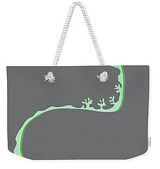Weekender Tote Bag featuring the digital art Green Spiral Evolution by Kevin McLaughlin