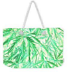 Weekender Tote Bag featuring the photograph Green Splender by Jamie Lynn