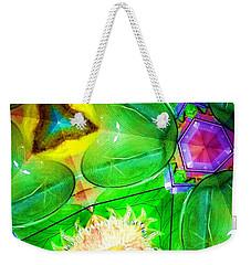 Green Thing 2 Abstract Weekender Tote Bag