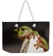 Green Tree Frog Keeping An Eye On You Weekender Tote Bag