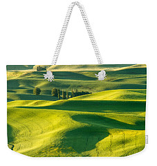 Green Velvet Weekender Tote Bag by Patricia Davidson
