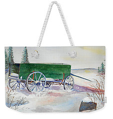 Green Wagon Weekender Tote Bag