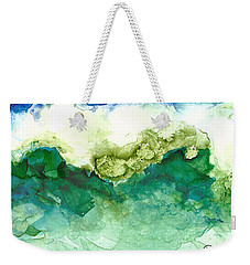 Green Wave Weekender Tote Bag