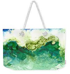 Green Wave Weekender Tote Bag by Joan Hartenstein
