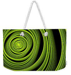 Weekender Tote Bag featuring the digital art Green Wellness by Gabiw Art