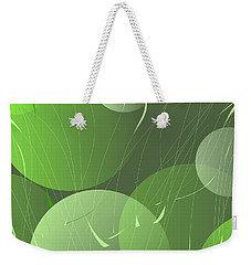 Weekender Tote Bag featuring the digital art Green Whimsy by Mary Bedy