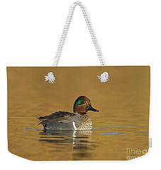 Green Wing Teal Weekender Tote Bag by Bryan Keil