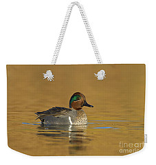 Green Wing Teal Weekender Tote Bag