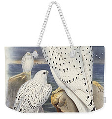 Greenland Falcon Weekender Tote Bag by John Gould