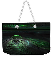 Weekender Tote Bag featuring the digital art Greenland Outpost by GJ Blackman