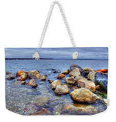 Weekender Tote Bag featuring the photograph Greenwich Bay by Alex Grichenko