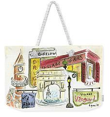 Greenwich Village Collage Weekender Tote Bag