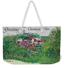 Greetings From Cincinnati Ohio Weekender Tote Bag