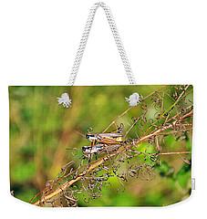 Gregarious Grasshoppers Weekender Tote Bag