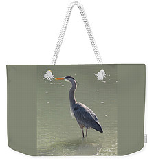 Weekender Tote Bag featuring the photograph Grey Bird by Oksana Semenchenko