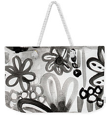 Grey Garden- Abstract Floral Painting Weekender Tote Bag