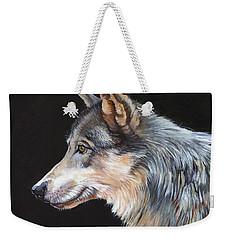 Grey Wolf Weekender Tote Bag by J W Baker