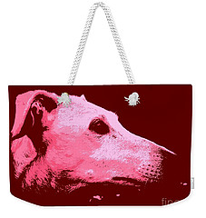 Weekender Tote Bag featuring the photograph Greyhound Profile by Clare Bevan