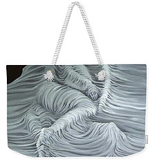 Weekender Tote Bag featuring the painting Greyish Revelation by Fei A