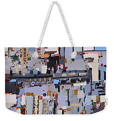 Gridlock Weekender Tote Bag by Regina Valluzzi