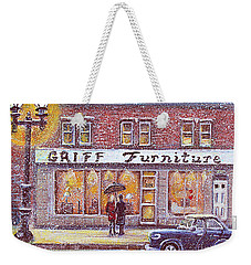 Griff Valentines' Birthday Weekender Tote Bag by Rita Brown