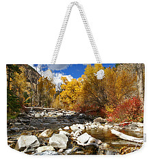 Weekender Tote Bag featuring the photograph Grizzly Creek Canyon by Jeremy Rhoades