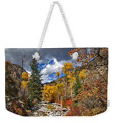 Grizzly Creek Cottonwoods Weekender Tote Bag by Jeremy Rhoades