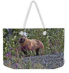 Grizzly Weekender Tote Bag by David Gleeson