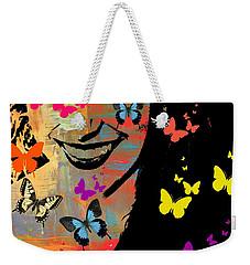 Groovy Butterfly Gal Weekender Tote Bag