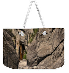 Grotto Canyon Fractal Weekender Tote Bag