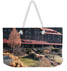 Grove Park Inn In Early Winter Weekender Tote Bag