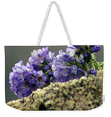 Weekender Tote Bag featuring the photograph Growing In Granite by Jeremy Rhoades