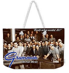 Grumman Iron Works Shop Workers Weekender Tote Bag