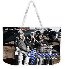 Grumman Test Pilots Weekender Tote Bag