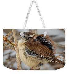 Grumpy Bird Square Weekender Tote Bag by Bill Wakeley
