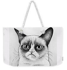 Grumpy Cat Portrait Weekender Tote Bag