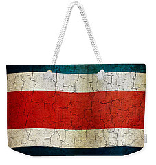 Grunge Costa Rica Flag Weekender Tote Bag