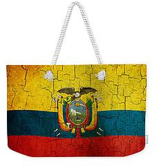 Grunge Ecuador Flag Weekender Tote Bag
