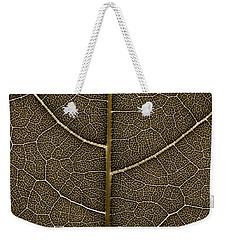 Grunge Leaf Detail Weekender Tote Bag by Carsten Reisinger