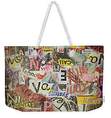 Grunge Textured Background Weekender Tote Bag