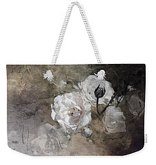 Grunge White Rose Weekender Tote Bag