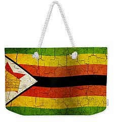 Grunge Zimbabwe Flag Weekender Tote Bag