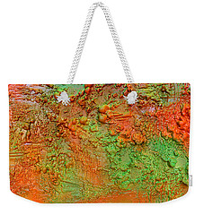 Orange Abstract New Media  Weekender Tote Bag