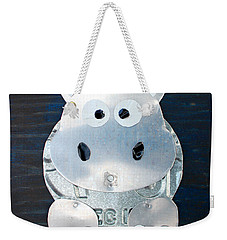 Grunt The Hippo License Plate Art Weekender Tote Bag