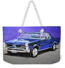 Weekender Tote Bag featuring the painting Gto 1965 by Thomas J Herring